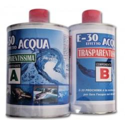 E 30 EFFETTO ACQUA PROCHIMA - Resina Epossidica Trasparente Autolivellante per colate di tutte le dimensioni