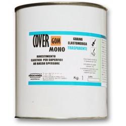 COVERGOM MONO (Trasparente) PROCHIMA - Gomma Poliuretanica monocomponente a pennello e spruzzo, contenuto 1 kg