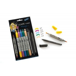 Set 5 Pennarelli Manga 1 Copic Ciao Marker e 1 Multi Liner nero 0,3 mm