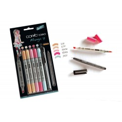 Copic Ciao Marker Manga 7 - Set con 5 Pennarelli e 1 Multiliner nero 0,3 mm
