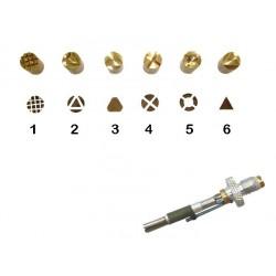 Set di 6 punzoni da 1 a 6 con punta F21 Pyrographe