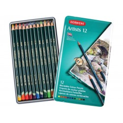 Scatole in Metallo Derwent Artist 24 Matite Colorate