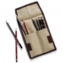 Astuccio Derwent in tessuto per 12 matite