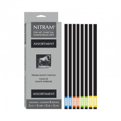 Nitram Assortiment - Assortimento di 8 Carboncini in stick da H a B+