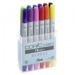 Copic Ciao Marker - Set da 12 Pennarelli a doppia punta in colori assortiti