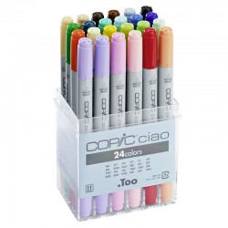 Copic Ciao Marker - Set da 24 Pennarelli a doppia punta in colori assortiti