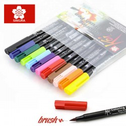 Sakura Koi - Coloring Brush Pen - Set da 12 pennarelli in colori assortiti
