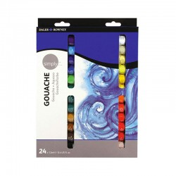 Set con 24 colori a Tempera Daler Rowney. 24 tubi da 12 ml