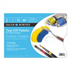 Daler Rowney Tear Off Palette - Tavolozza in carta usa e getta - 40 fogli da 90 gr. in formato A4