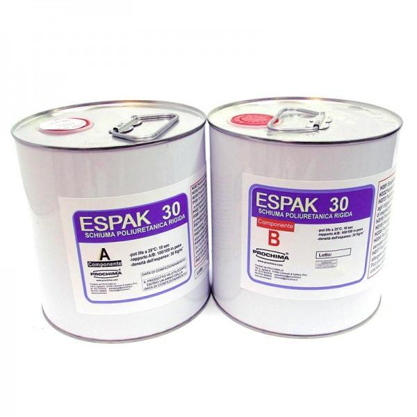 Confezione da 10 kg di ESPAK 30 PROCHIMA Resina poliuretanica a schiuma rigida