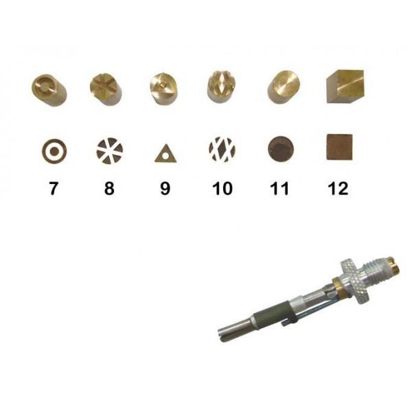 Set di 6 punzoni da 7 a 12 con punta F21 Pyrographe