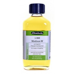 Medium W Schmincke 043, flacone in vetro da 200 ml