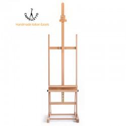 Cavalletto da studio Cappelletto per tele fino a 135 cm con mensola portaoggetti