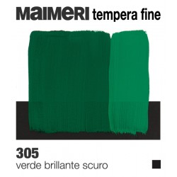 Colori a Tempera Fine Maimeri Verde Brillante Scuro (305) tubo da 20 ml