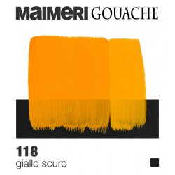 Colori a Tempera extrafine Maimeri Gouache Giallo Scuro (118) tubo da 20 ml