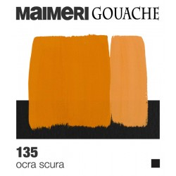 Colori a Tempera extrafine Maimeri Gouache Ocra Scura (135) tubo da 20 ml