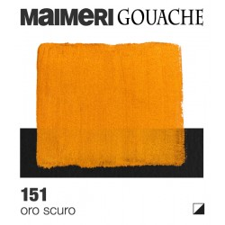 Colori a Tempera extrafine Maimeri Gouache Oro Scuro (151) tubo da 20 ml