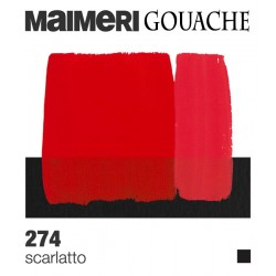 Colori a Tempera extrafine Maimeri Gouache Scarlatto (274) tubo da 20 ml