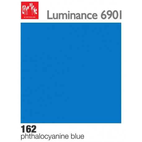 Matite colorate Caran d'Ache Luminance - Blu ftalo (162)
