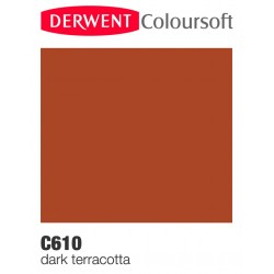 Matite Colorate Derwent ColourSoft - Terracotta Scura (C610)