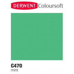 Matite Colorate Derwent ColourSoft - Verde Menta (C470)