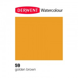 Matita Acquarellabile Derwent WaterColour Marrone Dorato (59)
