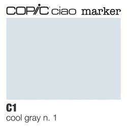 "Pennarello Copic ""Ciao Marker"" (C1) Cool Gray 1"