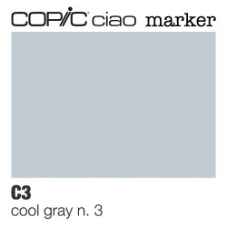 "Pennarello Copic ""Ciao Marker"" (C3) Cool Gray 3"