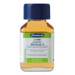 Mussini Medium 3 Schmincke (040) essiccante, flacone in vetro da 60 ml